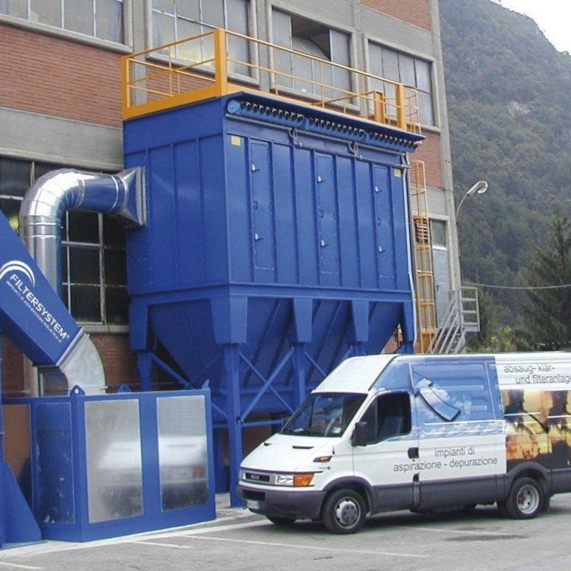 Vista dall'esterno di un impianto a marchio Filtersystem