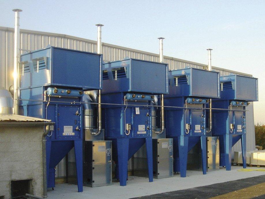 impianti di aspirazione ventilazione industriale