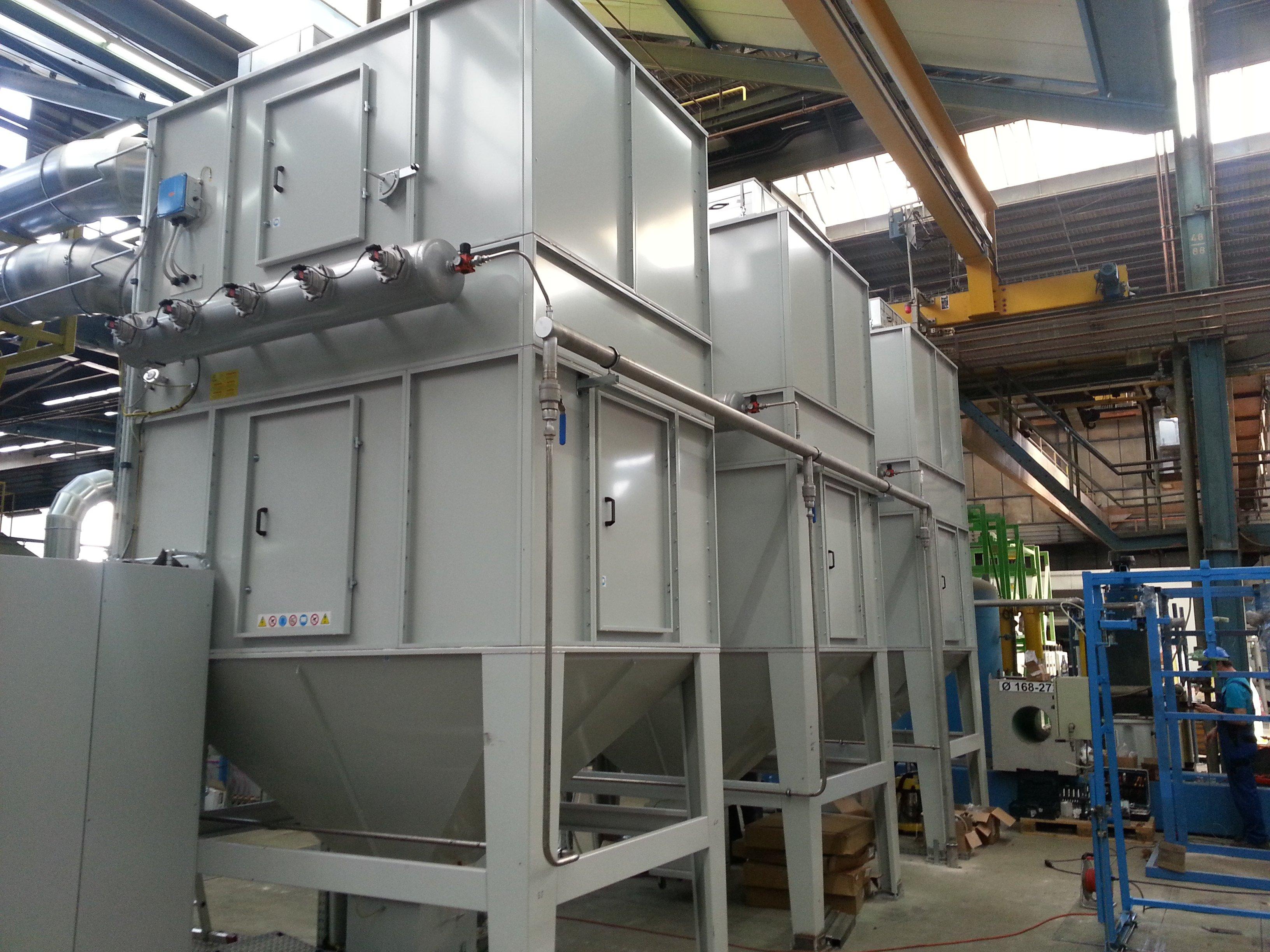 Filtri a cartucce per impianto di verniciatura