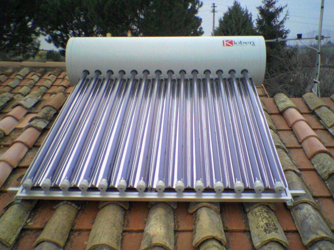 impianto termoidraulico su tetto di abitazione