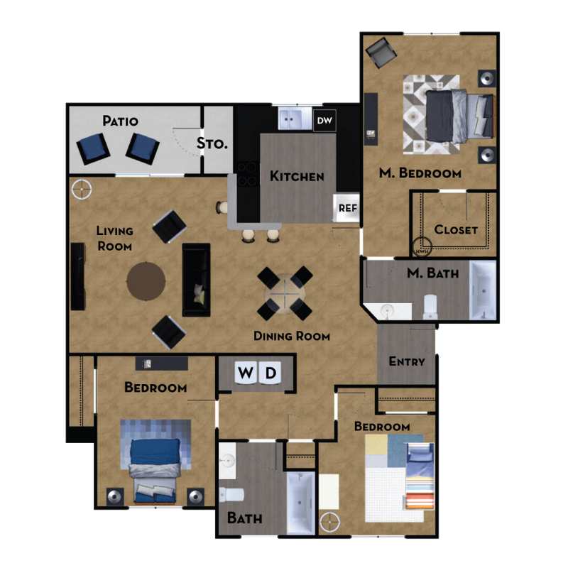 2 To 3 Bedroom Apartments For Rent: 1, 2 & 3 Bedroom Apartments