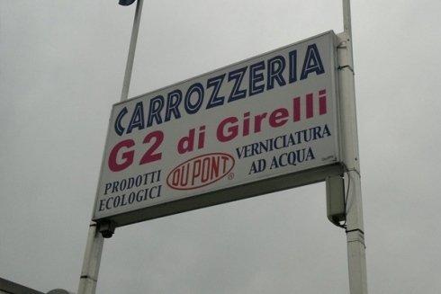 Insegna della Carrozzeria G2 di Girelli.