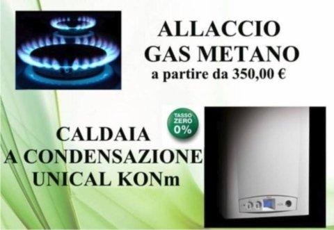allaccio gas metano
