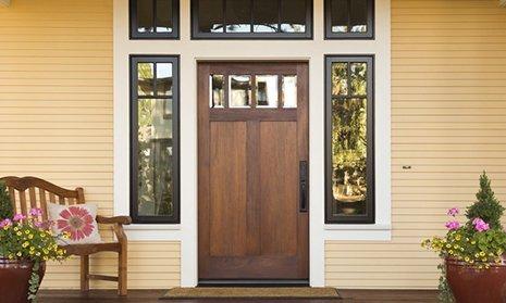 doors and wooden flooring