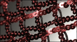 tessuto rete paillettes