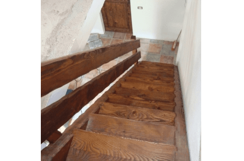 scale a rampa in legno