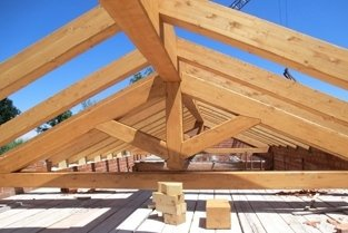 tetti pre tagliati in legno