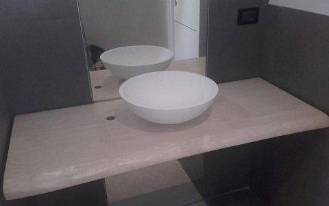 top per bagno personalizzato in legno