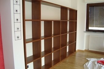 librerie in legno massello su misura
