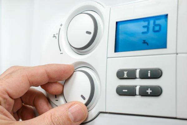 Dettaglio del monitor di un impianto di riscaldamento