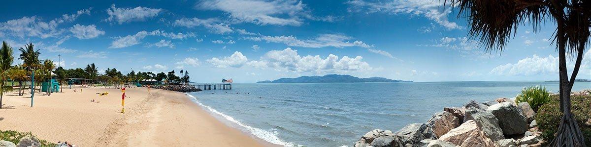 beach house motel strand panorama