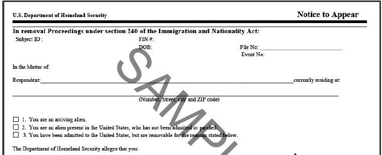 USCIS To Issue Notices to Appear (NTAs) Upon Denial of Applications