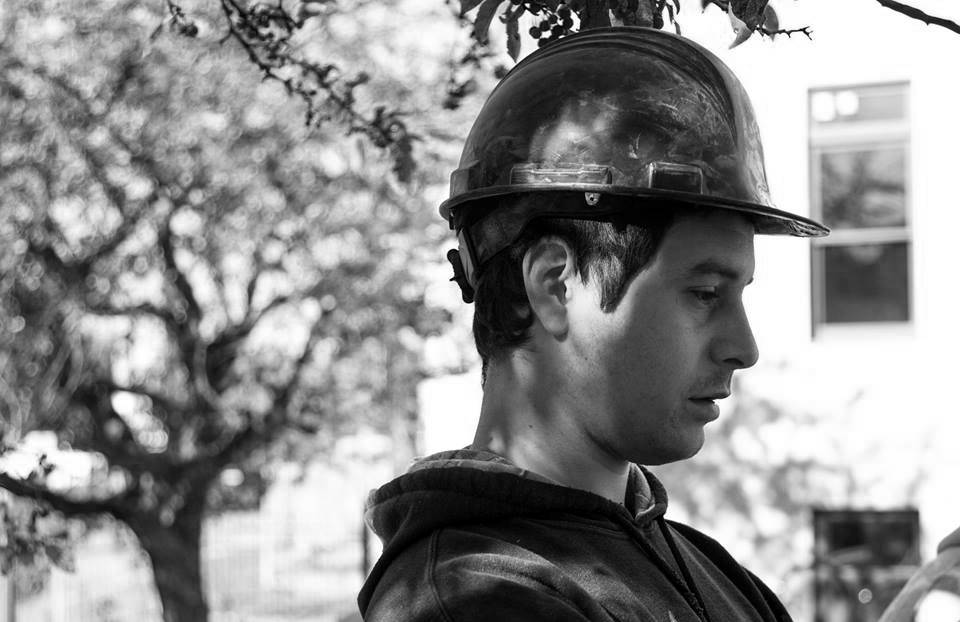 Construction Worker with Hardhat, MaineWorks