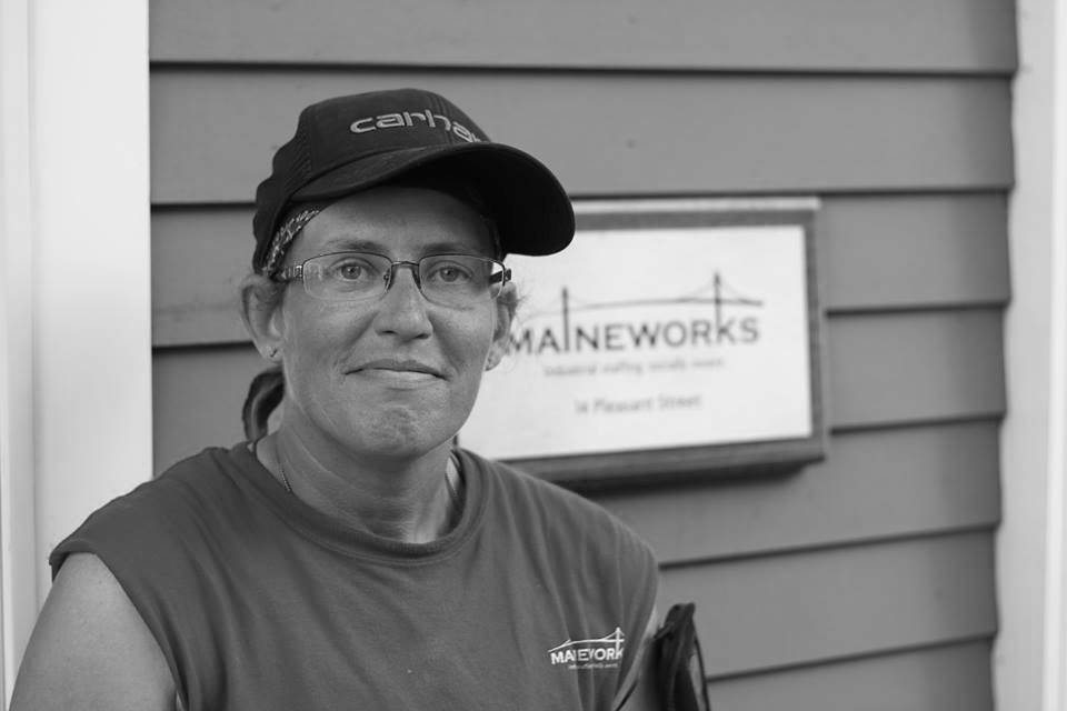 MaineWorks Female worker with ballcap