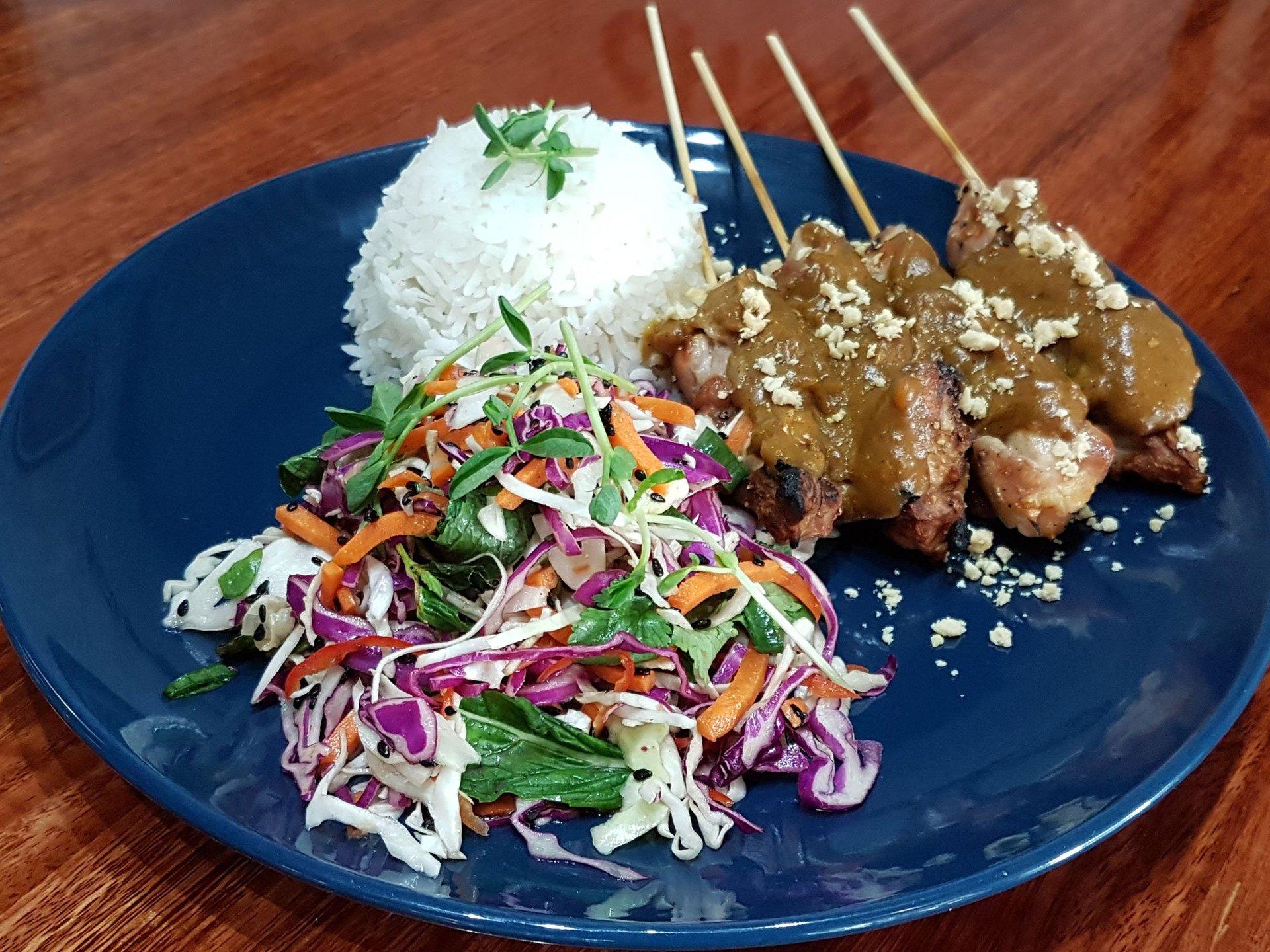 Chop 'n Chill - Chicken Satay Skewers