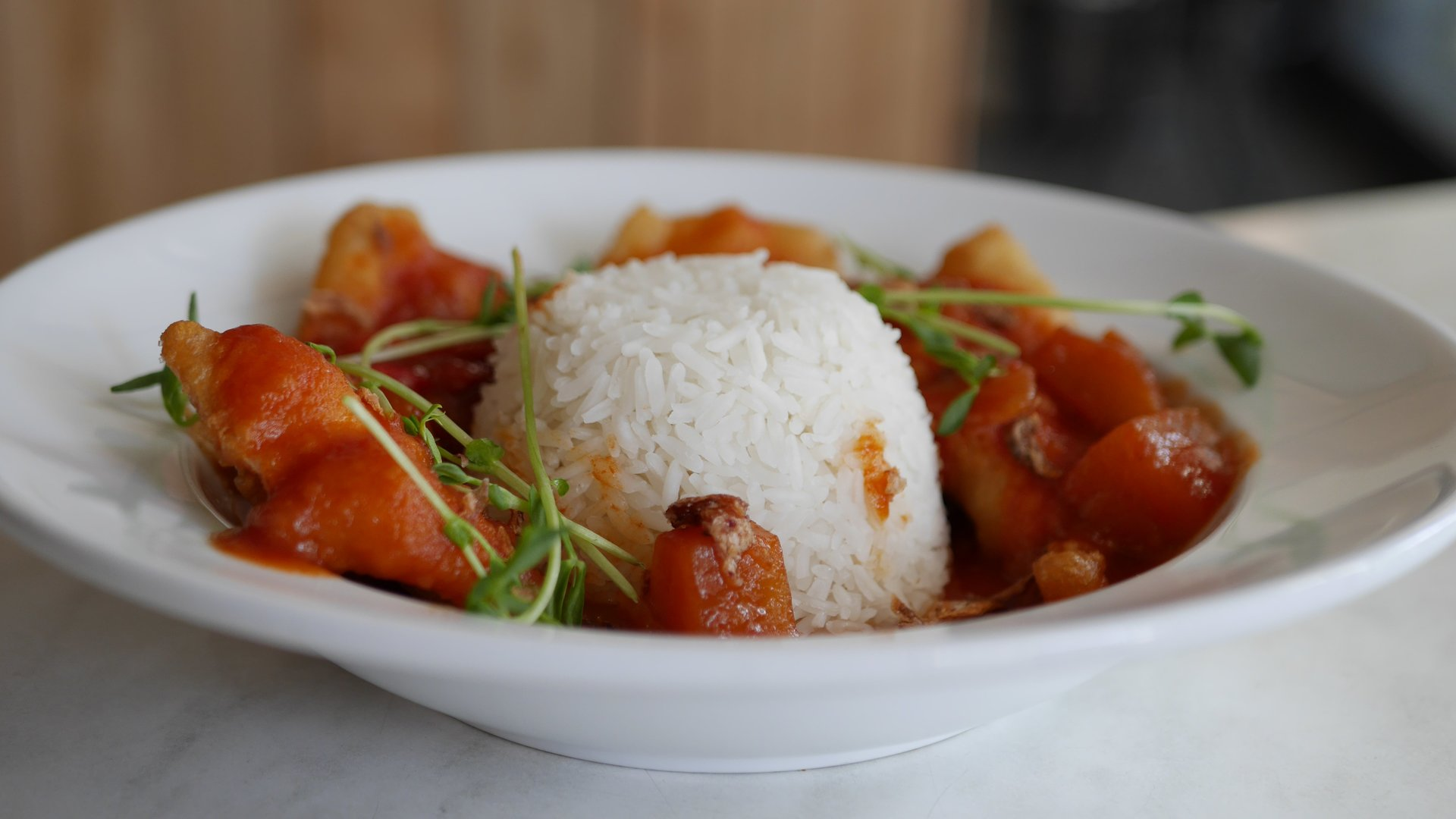 Street Eats Gallery - Singaporean Sweet, Sour & Spicy Fish w Rice - Image 4