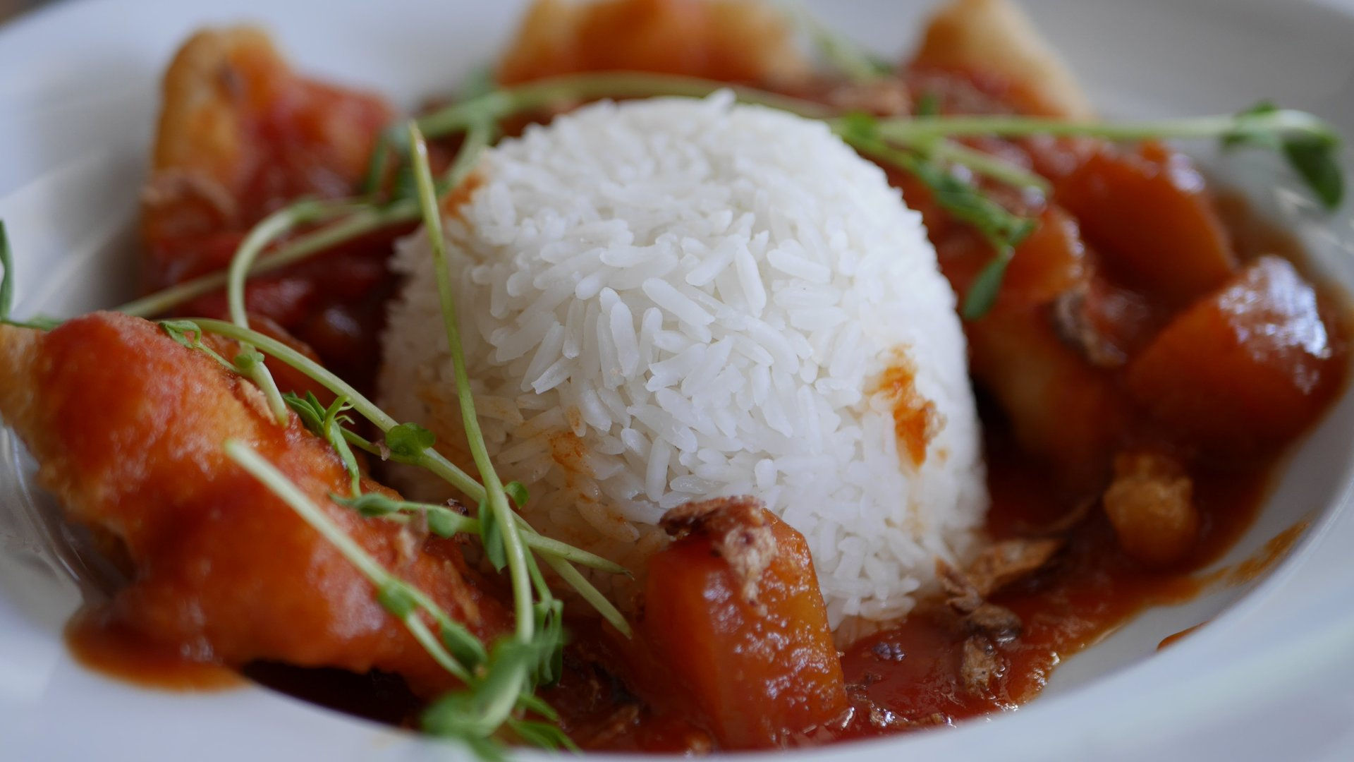 Street Eats Gallery - Singaporean Sweet, Sour & Spicy Fish w Rice - Image 2