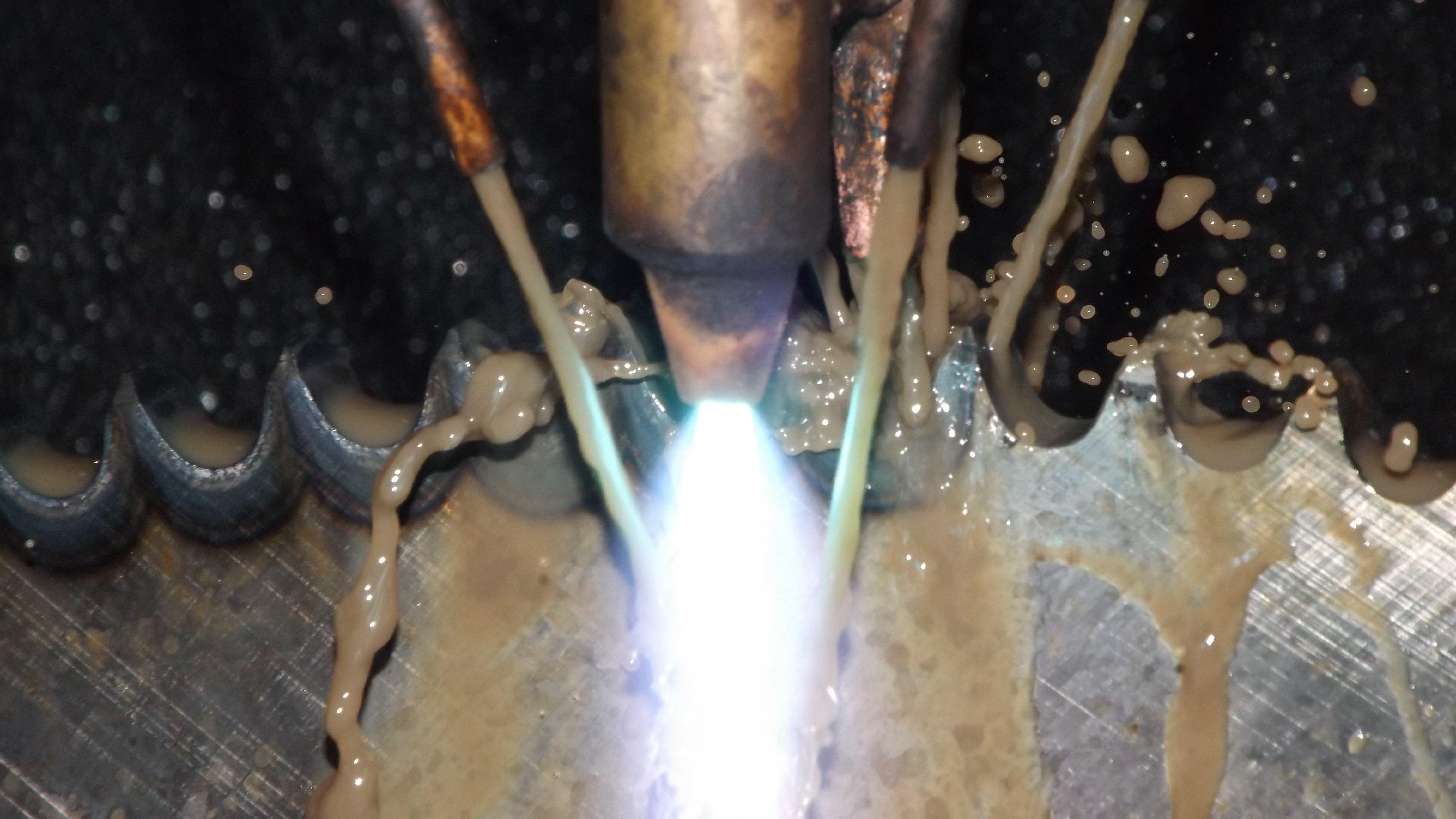 flame metal work