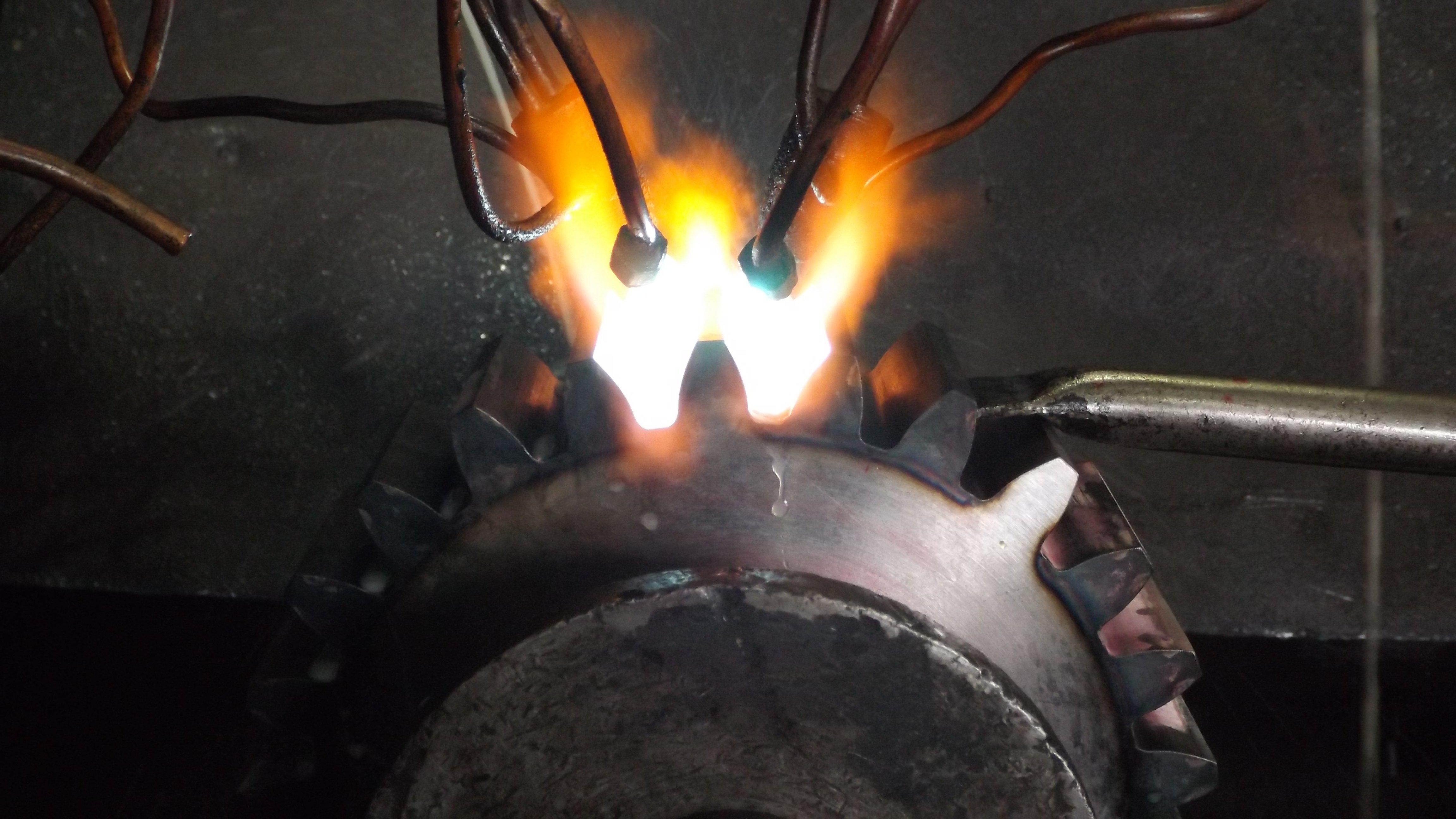 flame metal treatment