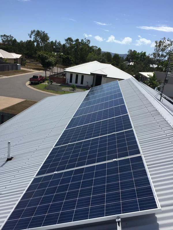 solar panel at harsh angle
