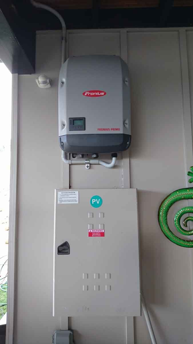 local solar panel control box