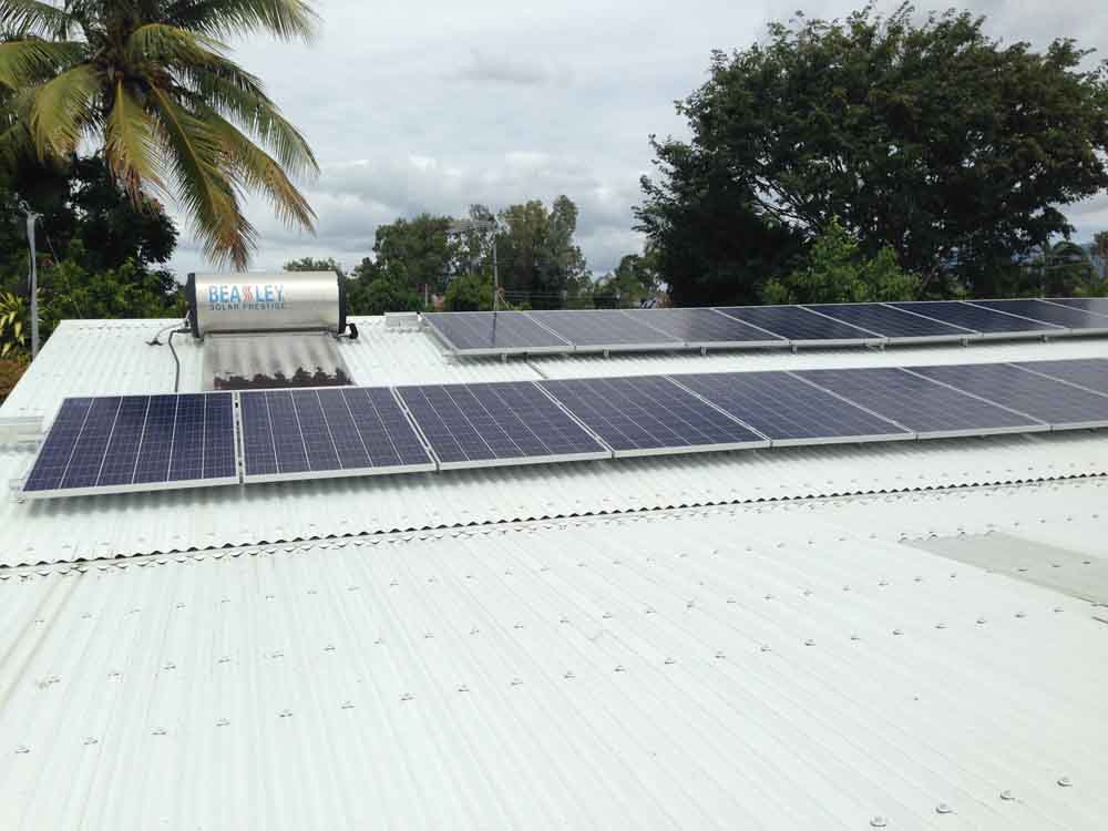 panels on white roof