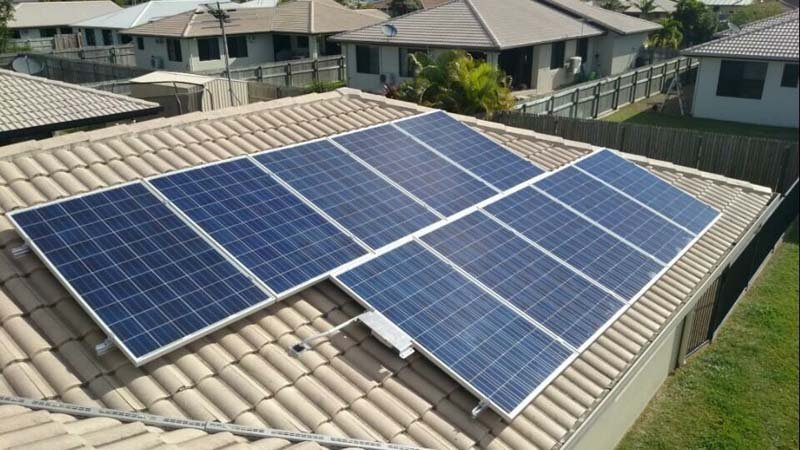 High-quality solar panels in the sun