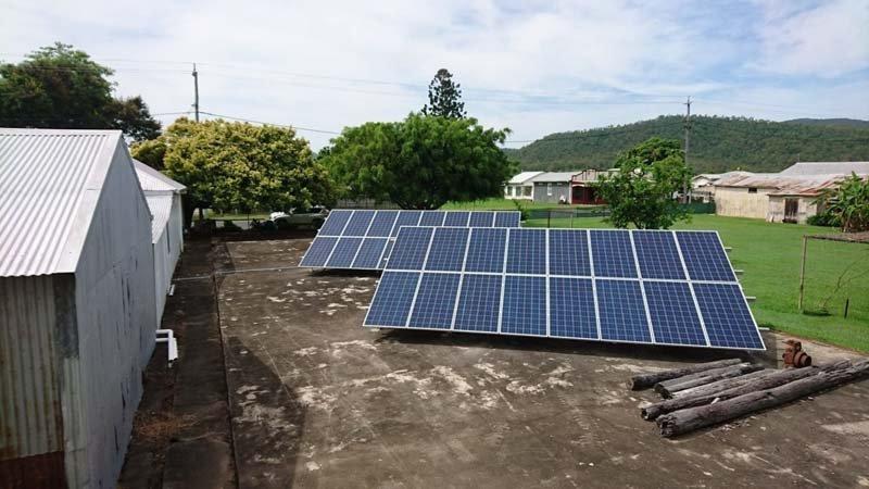 ground configured solar panels