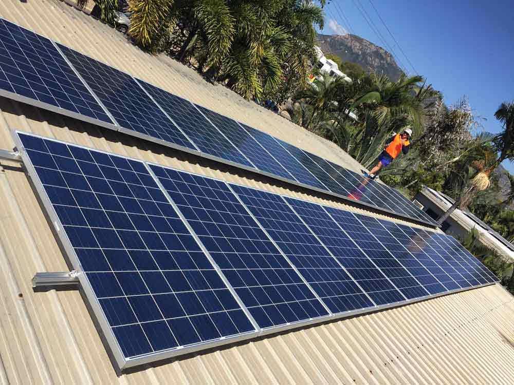 double row solar panels