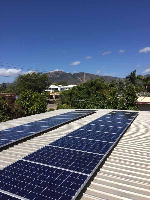 solar panels diagonally on roof
