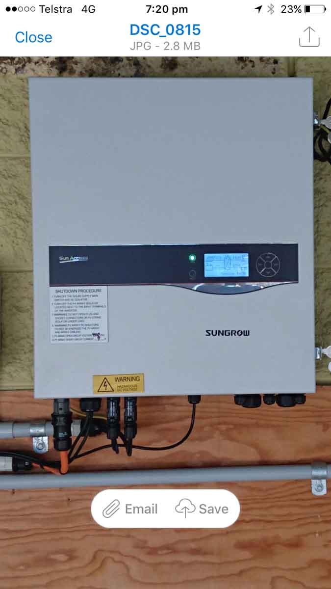 controls for solar panels