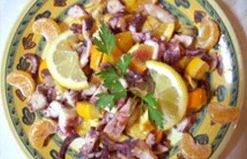 insalata di polipo agli agrumi