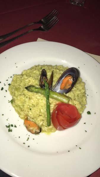risotto agli asparagi e cozze
