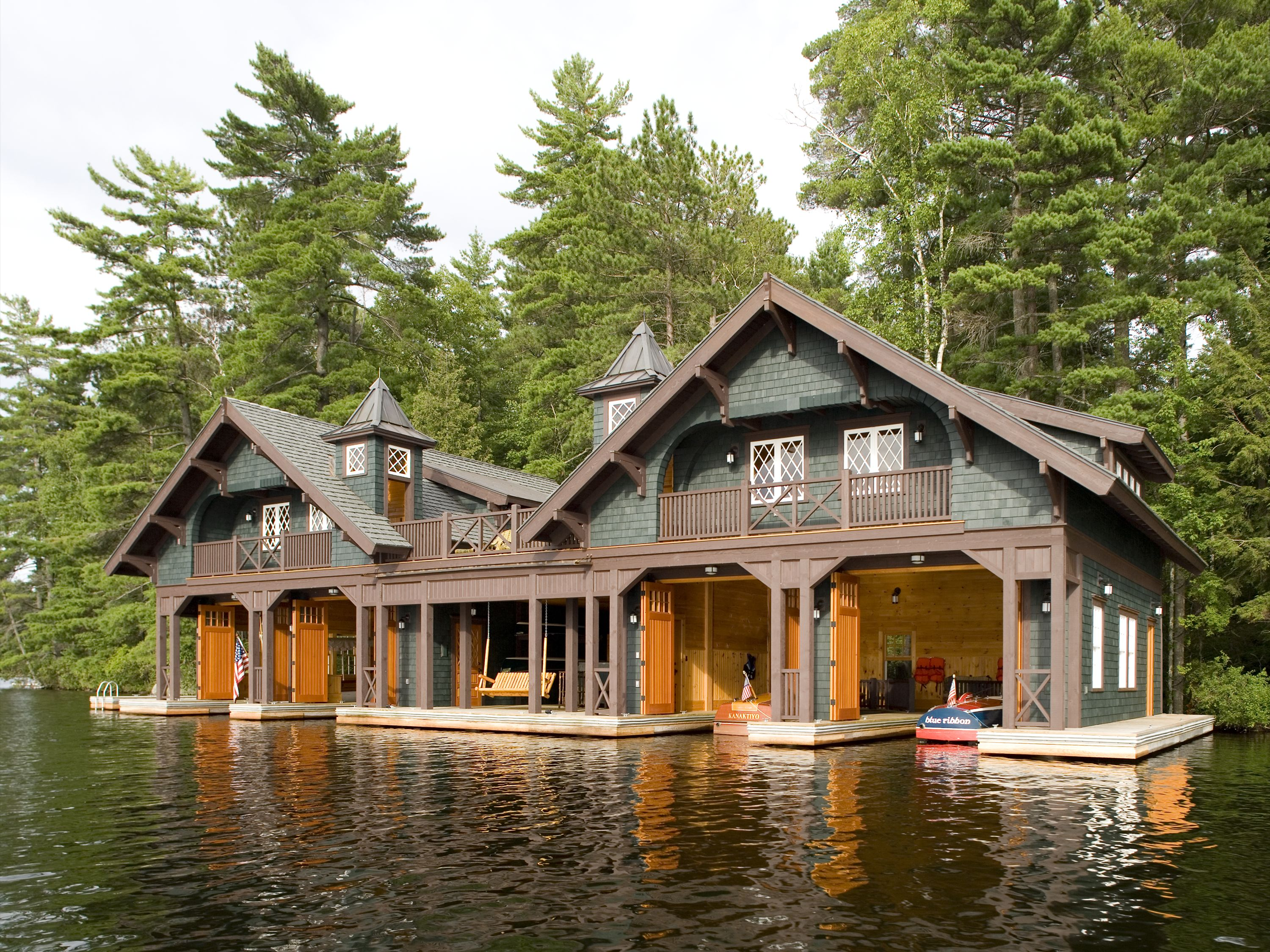 Boathouses boathouse architect for the adirondack for Adirondack style homes