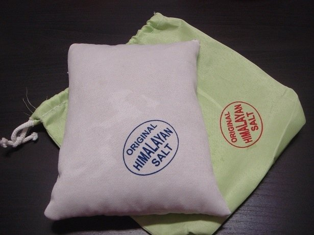 Cuscino di sale rosa