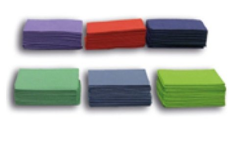 plastic-coated coloured napkins for dentists