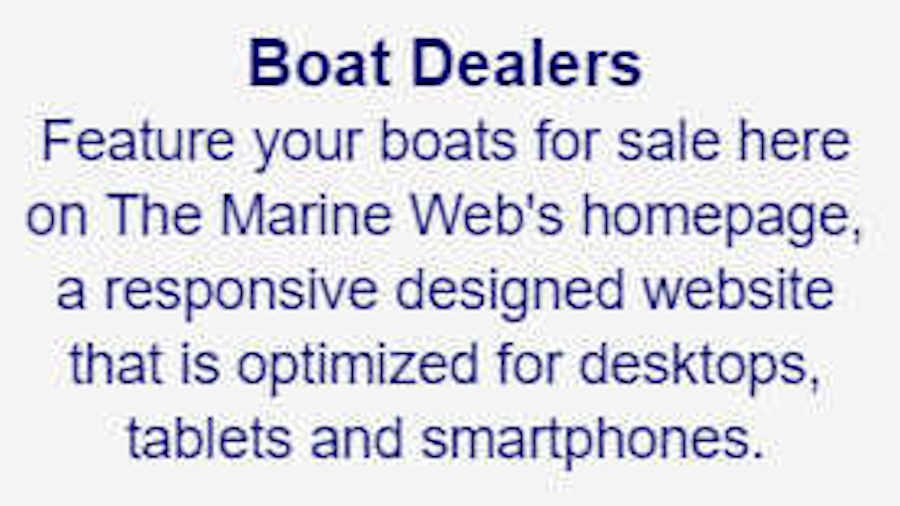 Boat dealers, feature your boats here.