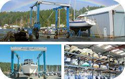 Boatyards including boat repair, boat maintenance, boat storage