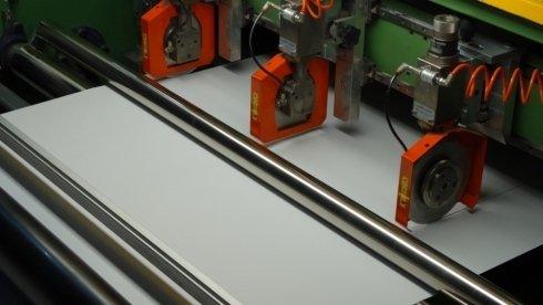 Particolare macchina carta Milltex