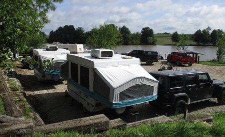 Camper RV Hookups at Smurfwood Trails