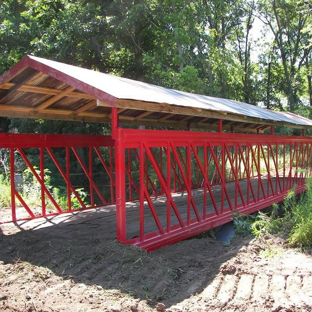 ATV Riding Trails over Custom ATV Bridges
