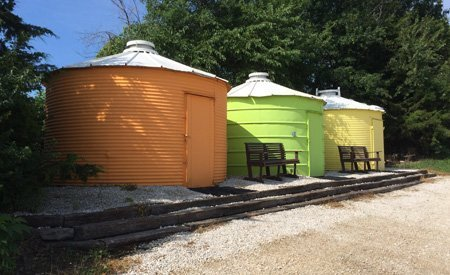 Grain Bin Huts Campsites in Missouri