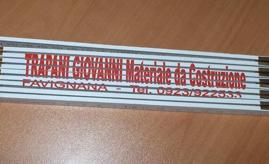 LEGNO Metro con serigrafia monocolore