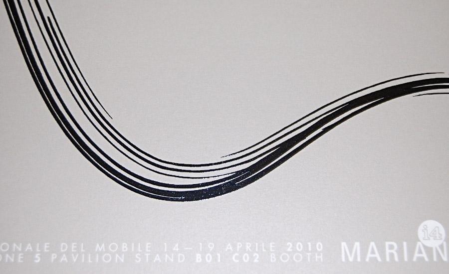 UV A RILIEVO Stampa serigrafica UV nero alto spessore