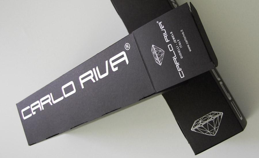 PACKAGING Scatola automontante realizzata con cartoncino nero 300 gr stampata 1 colore e fustellata