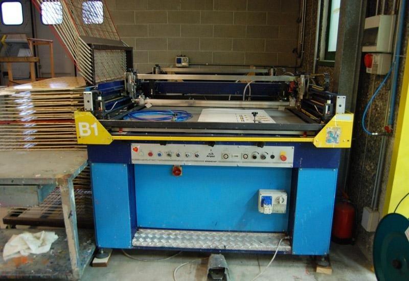 macchina serigrafica per stampa tessile 6 colori