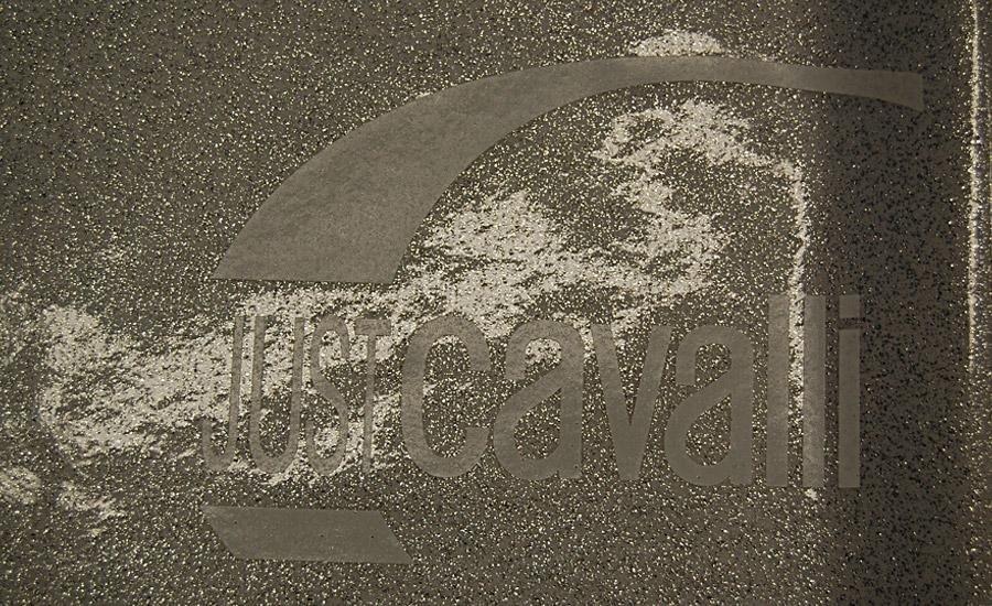 TESSUTI Serigrafia monocolore su pvc morbido glitterato accoppiato al tnt