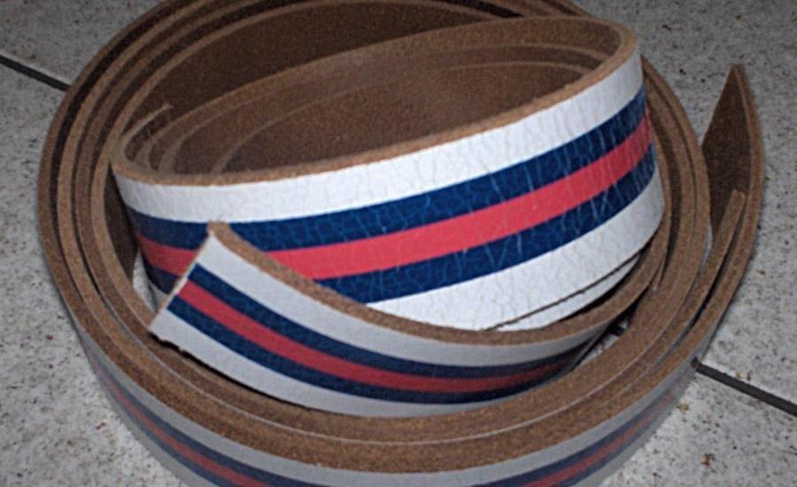 PELLE E SIMILARI Stampa serigrafica multi colore su cuoio