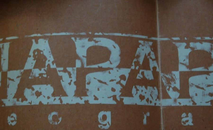 CARTA E CARTONE Stampa serigrafica monocolore su carta paraffinata