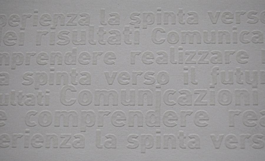 UV A RILIEVO Stampa serigrafica UV a rilievo spessore 150 micron